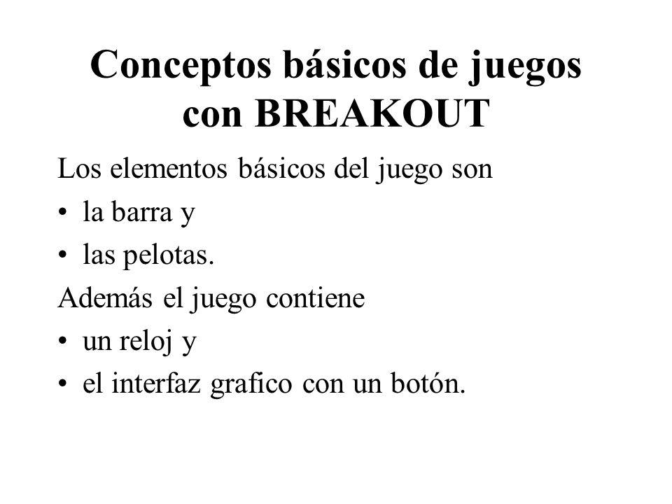 Conceptos básicos de juegos con BREAKOUT