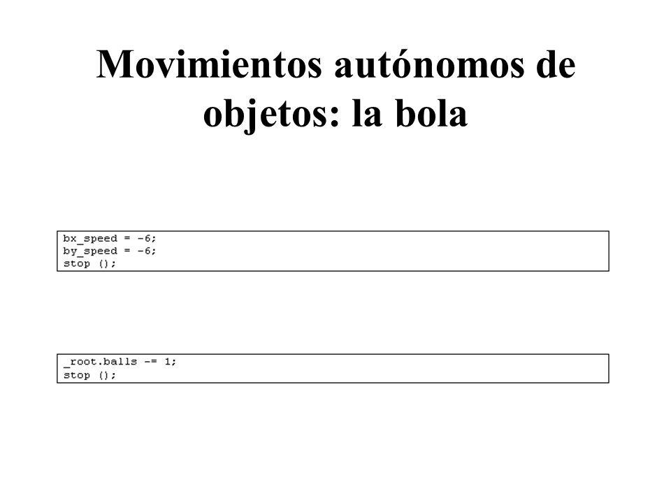 Movimientos autónomos de objetos: la bola