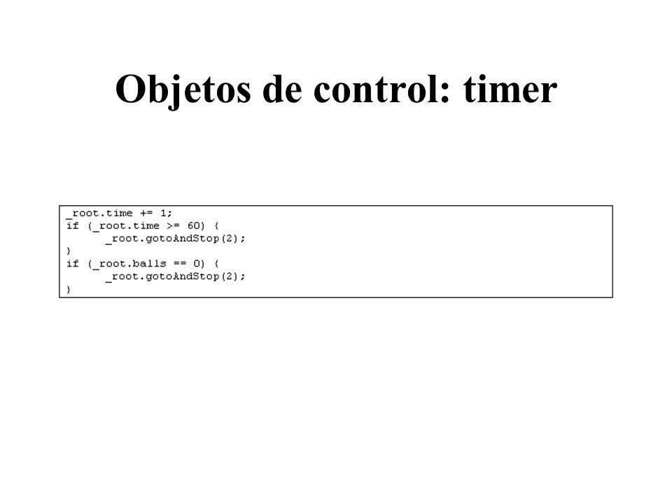 Objetos de control: timer