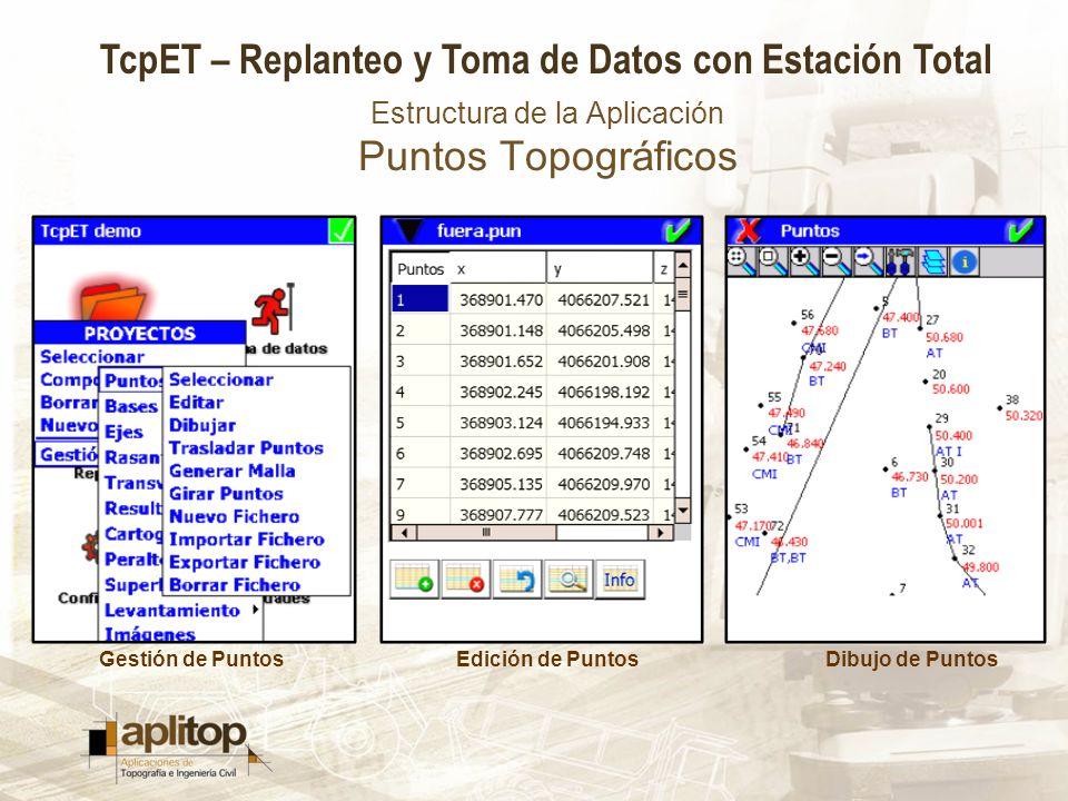Estructura de la Aplicación Puntos Topográficos