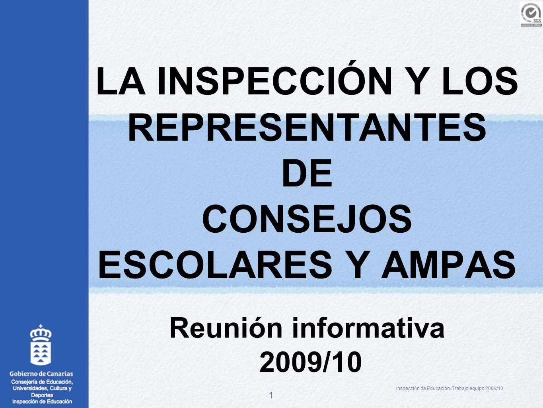 LA INSPECCIÓN Y LOS REPRESENTANTES DE CONSEJOS ESCOLARES Y AMPAS