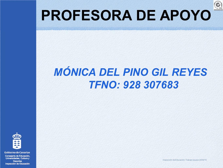MÓNICA DEL PINO GIL REYES TFNO: 928 307683