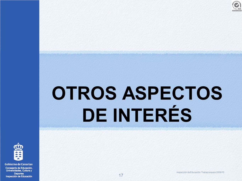 OTROS ASPECTOS DE INTERÉS