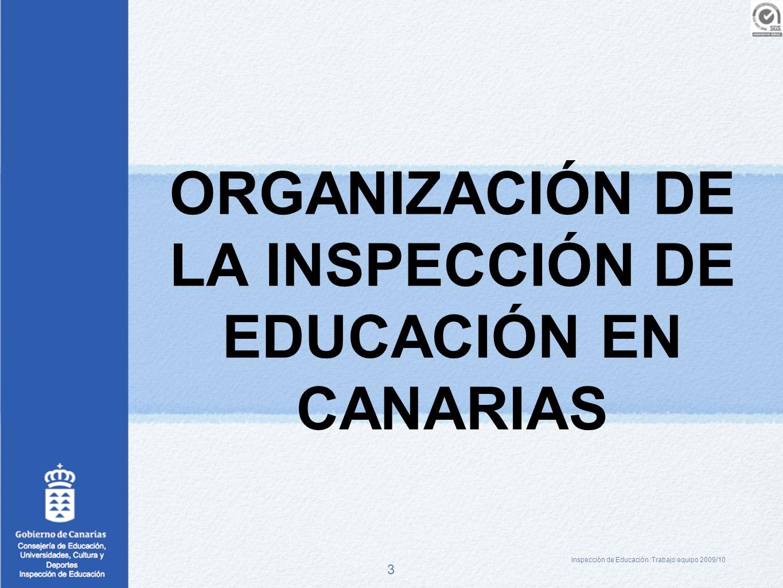 ORGANIZACIÓN DE LA INSPECCIÓN DE EDUCACIÓN EN CANARIAS