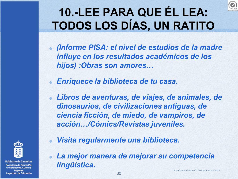 10.-LEE PARA QUE ÉL LEA: TODOS LOS DÍAS, UN RATITO