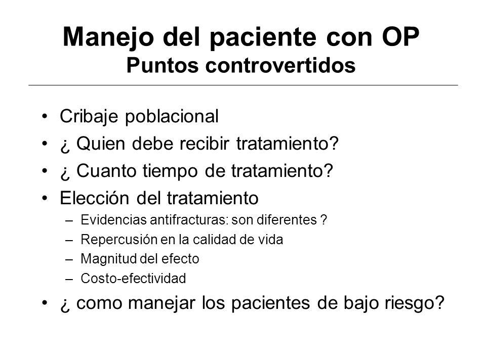 Manejo del paciente con OP Puntos controvertidos