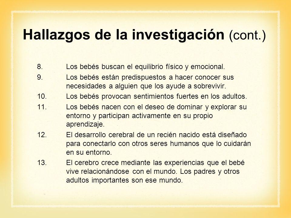 Hallazgos de la investigación (cont.)