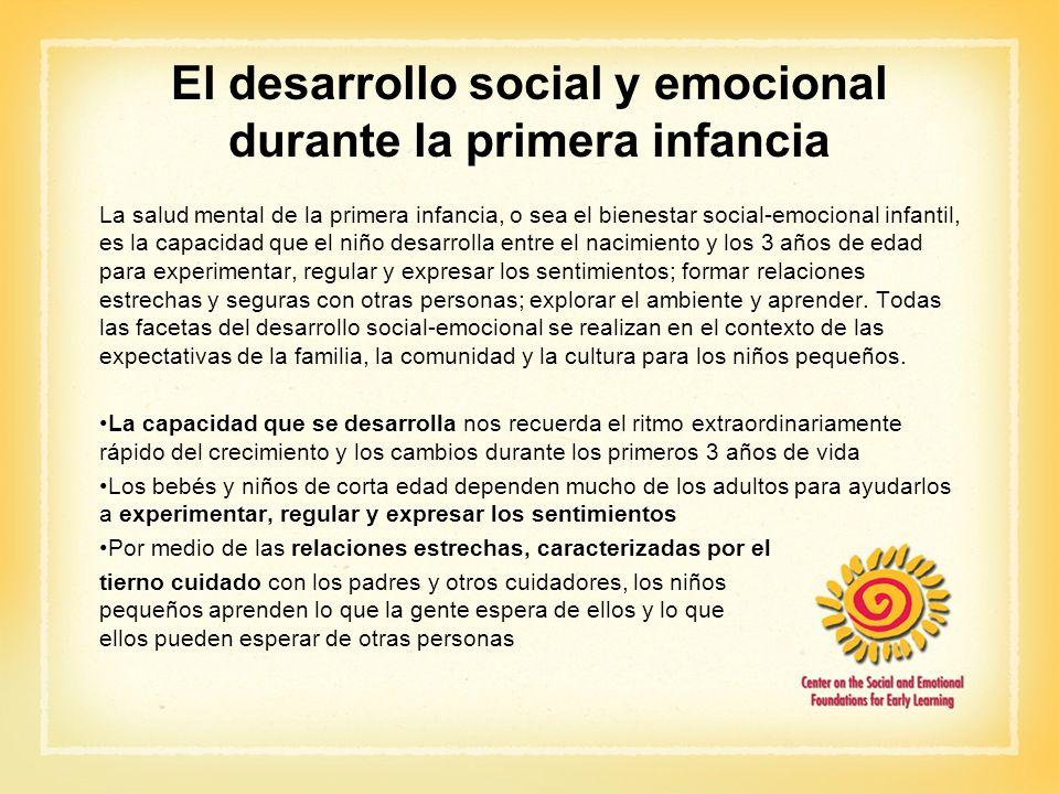 El desarrollo social y emocional durante la primera infancia