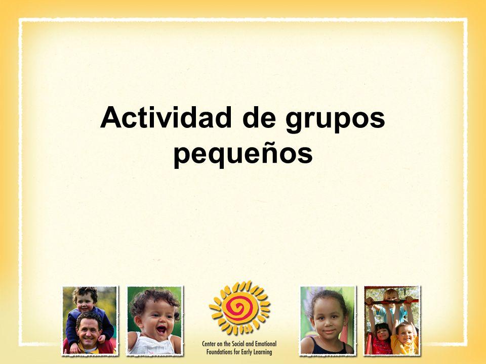 Actividad de grupos pequeños