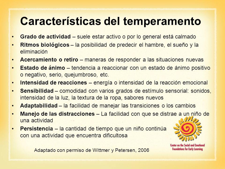 Características del temperamento