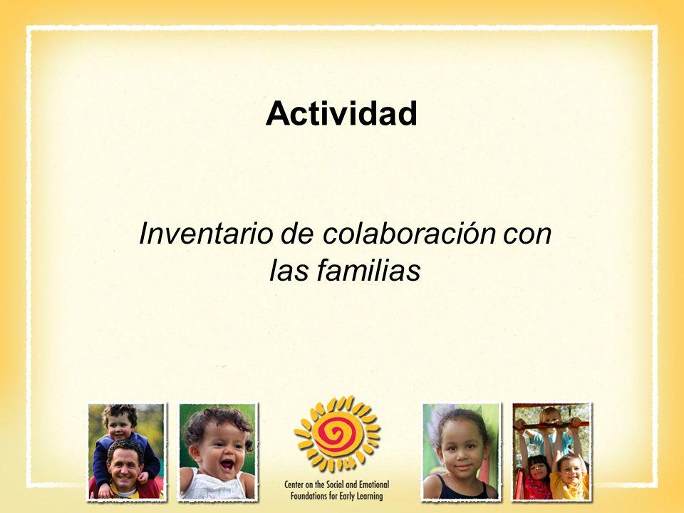 Inventario de colaboración con las familias