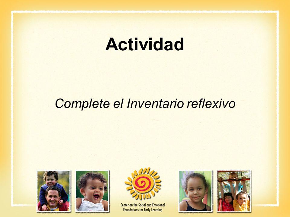 Complete el Inventario reflexivo