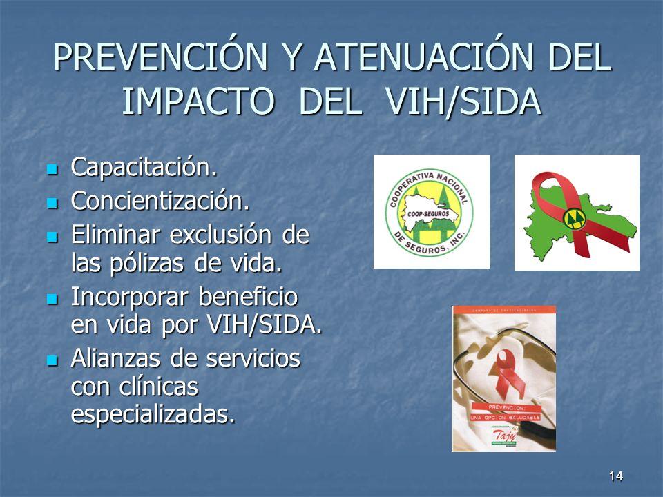 PREVENCIÓN Y ATENUACIÓN DEL IMPACTO DEL VIH/SIDA