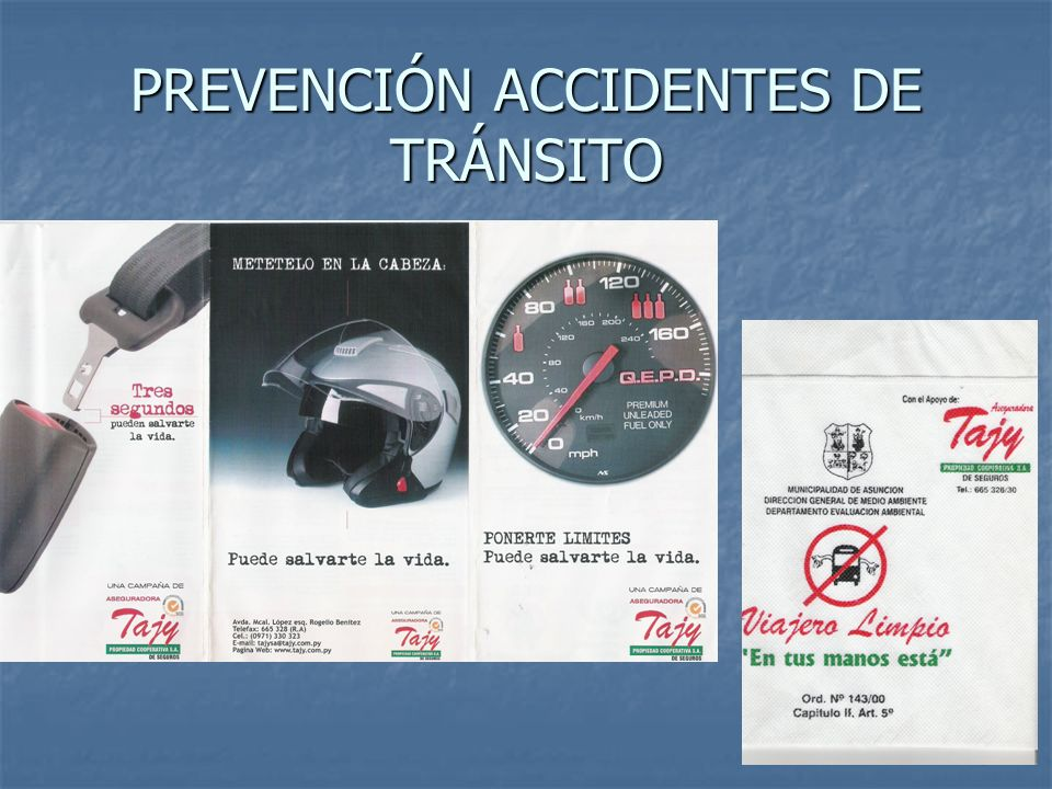 PREVENCIÓN ACCIDENTES DE TRÁNSITO
