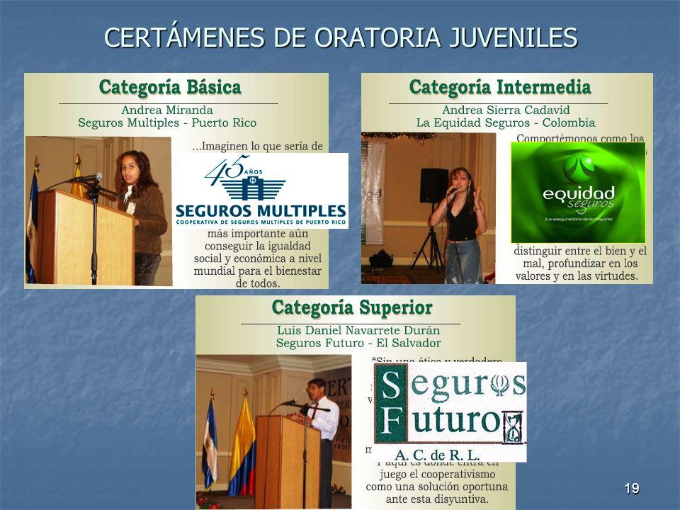 CERTÁMENES DE ORATORIA JUVENILES