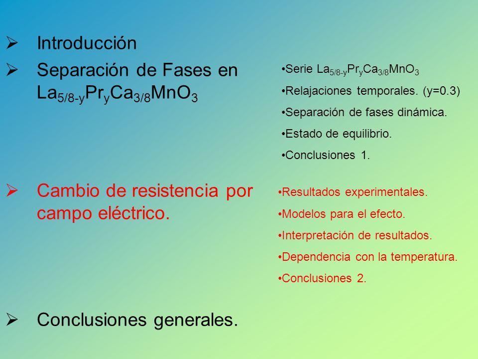 Separación de Fases en La5/8-yPryCa3/8MnO3