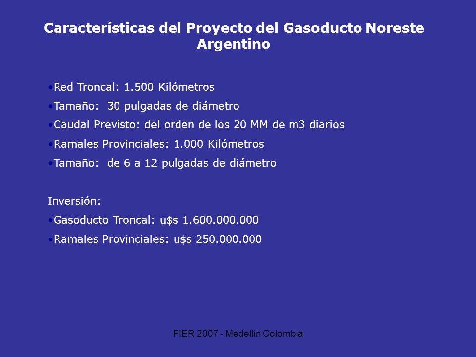 Características del Proyecto del Gasoducto Noreste Argentino