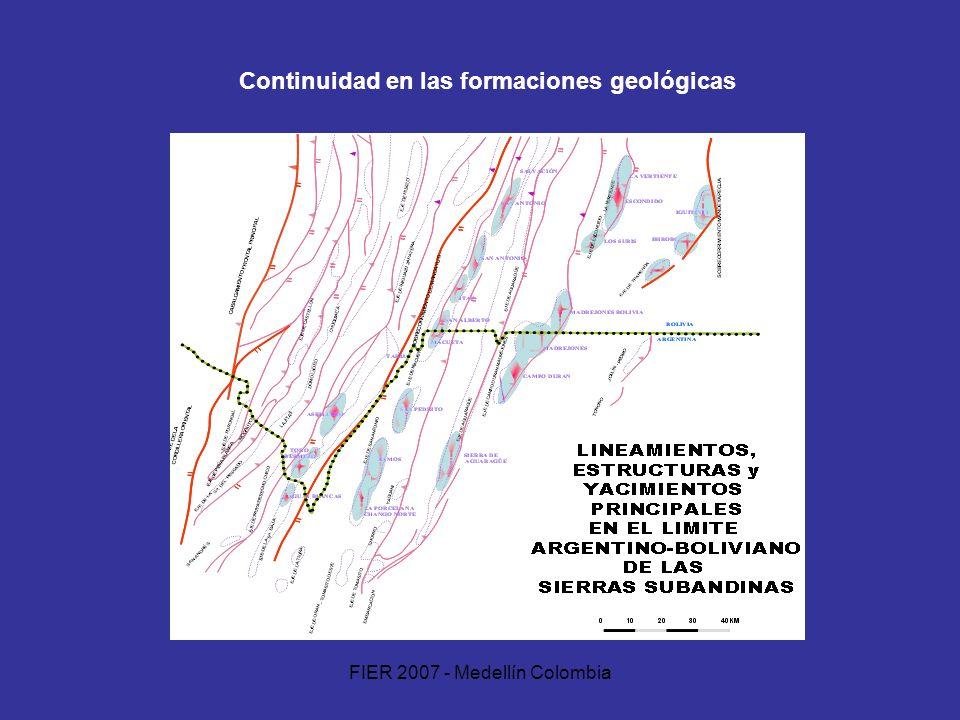Continuidad en las formaciones geológicas
