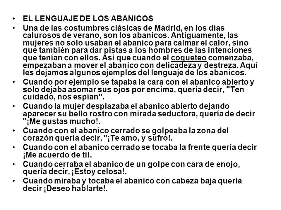 EL LENGUAJE DE LOS ABANICOS