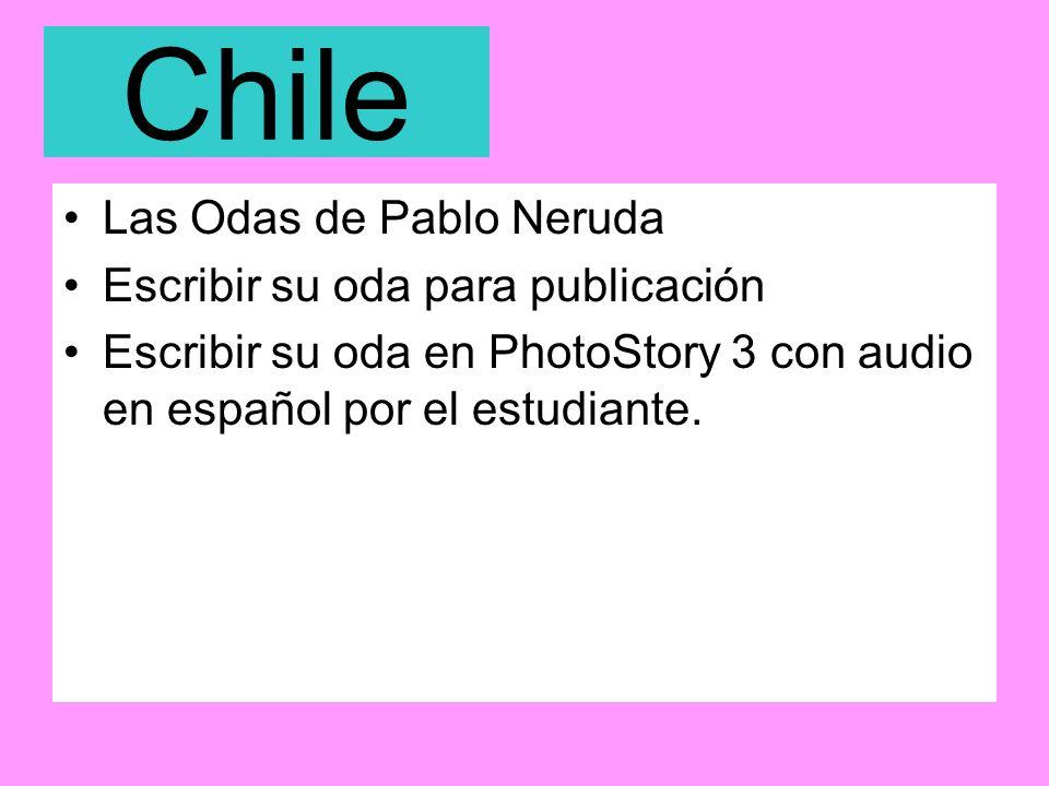 Chile Las Odas de Pablo Neruda Escribir su oda para publicación