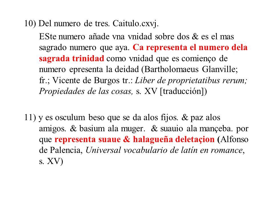 10) Del numero de tres. Caitulo.cxvj.
