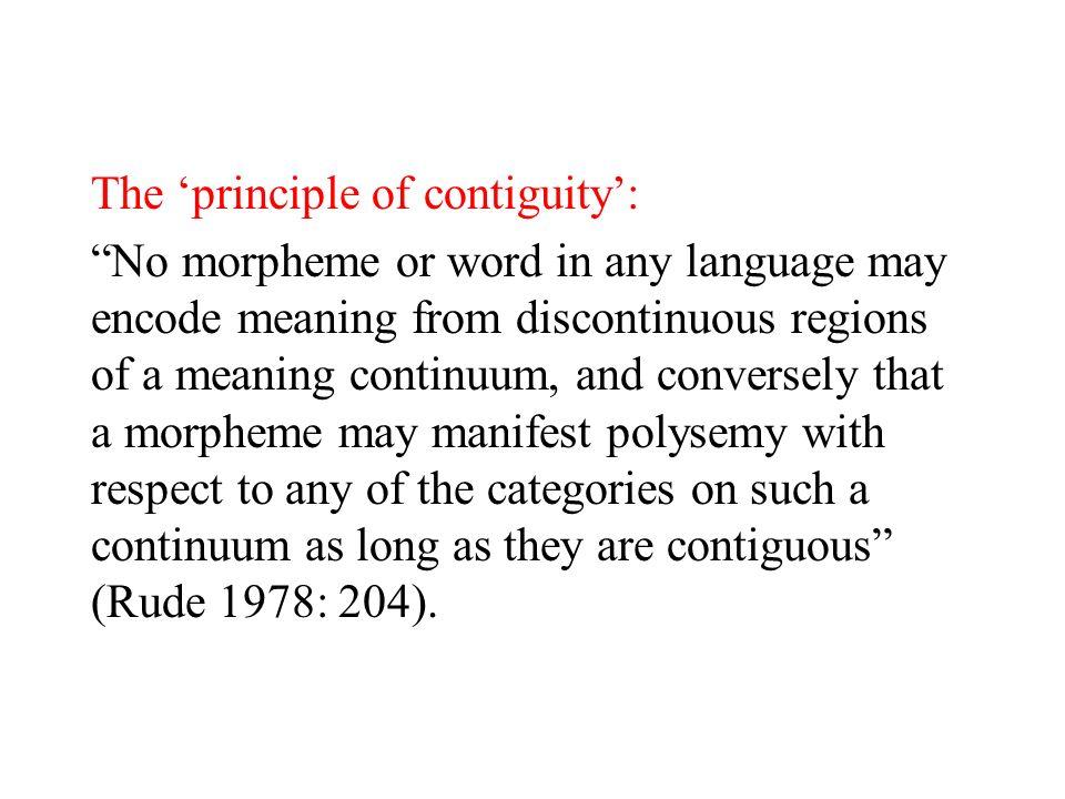The 'principle of contiguity':