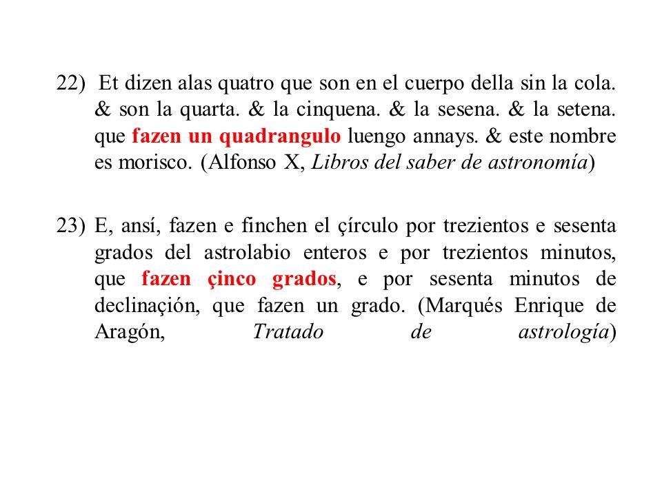 22) Et dizen alas quatro que son en el cuerpo della sin la cola
