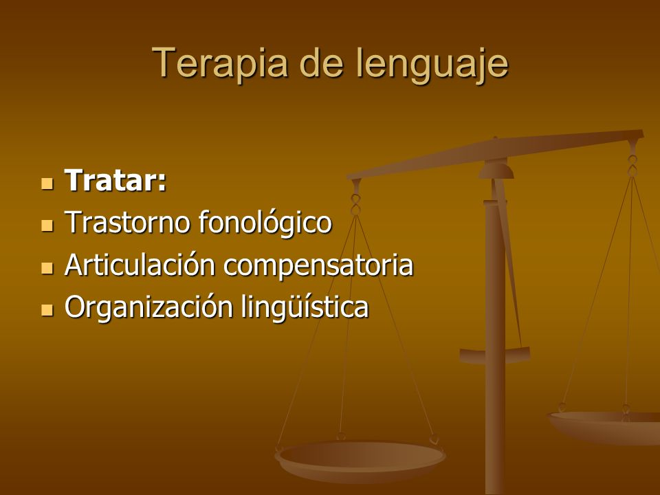 Terapia de lenguaje Tratar: Trastorno fonológico