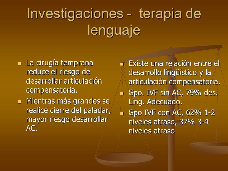 Investigaciones - terapia de lenguaje