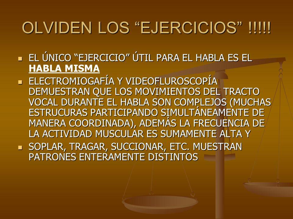 OLVIDEN LOS EJERCICIOS !!!!!