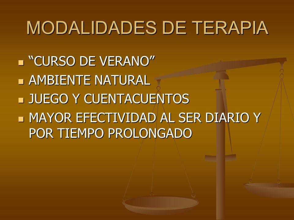 MODALIDADES DE TERAPIA