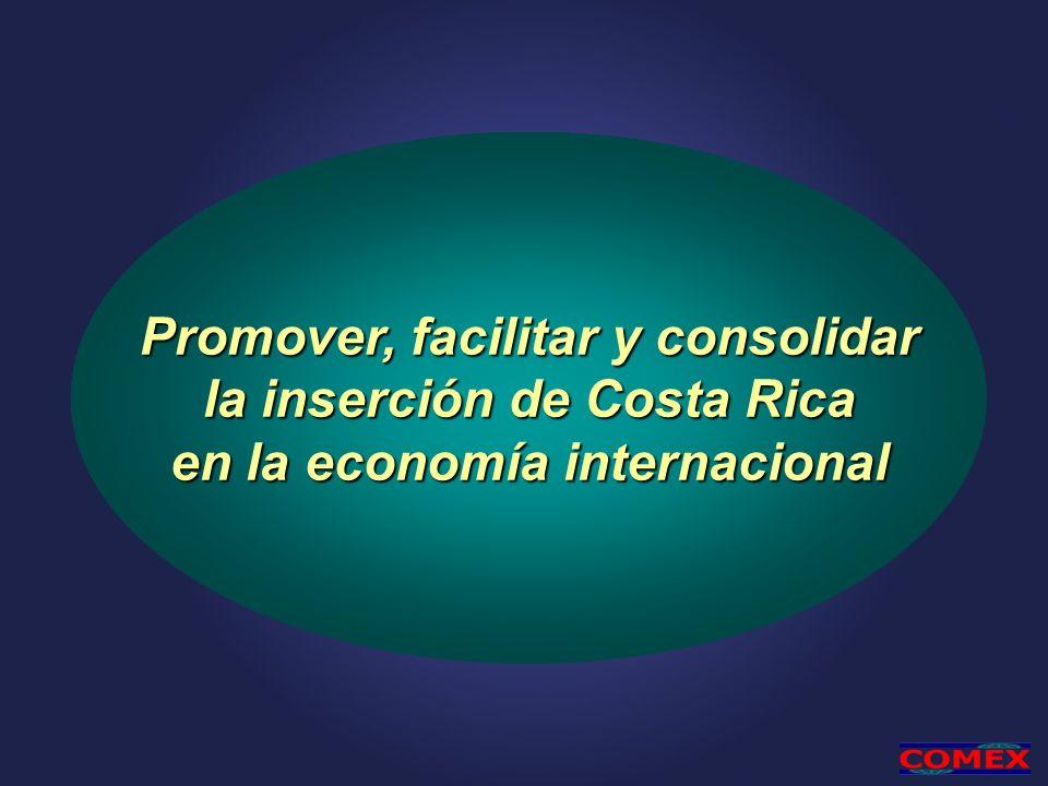 Promover, facilitar y consolidar la inserción de Costa Rica