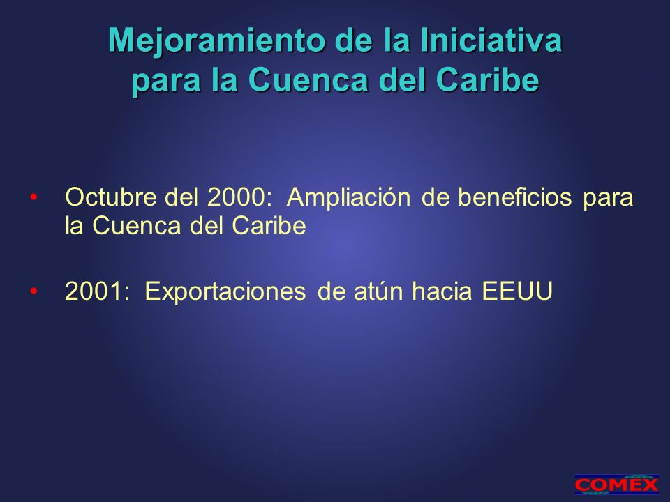 Mejoramiento de la Iniciativa para la Cuenca del Caribe