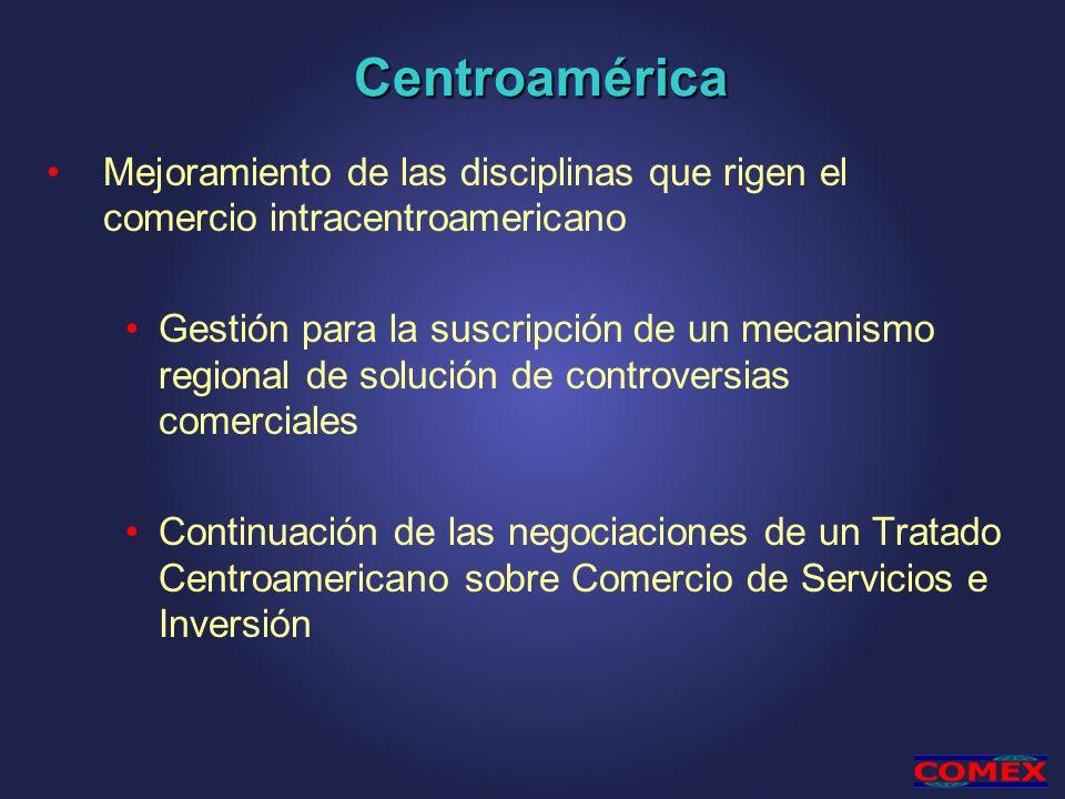 Centroamérica Mejoramiento de las disciplinas que rigen el comercio intracentroamericano.