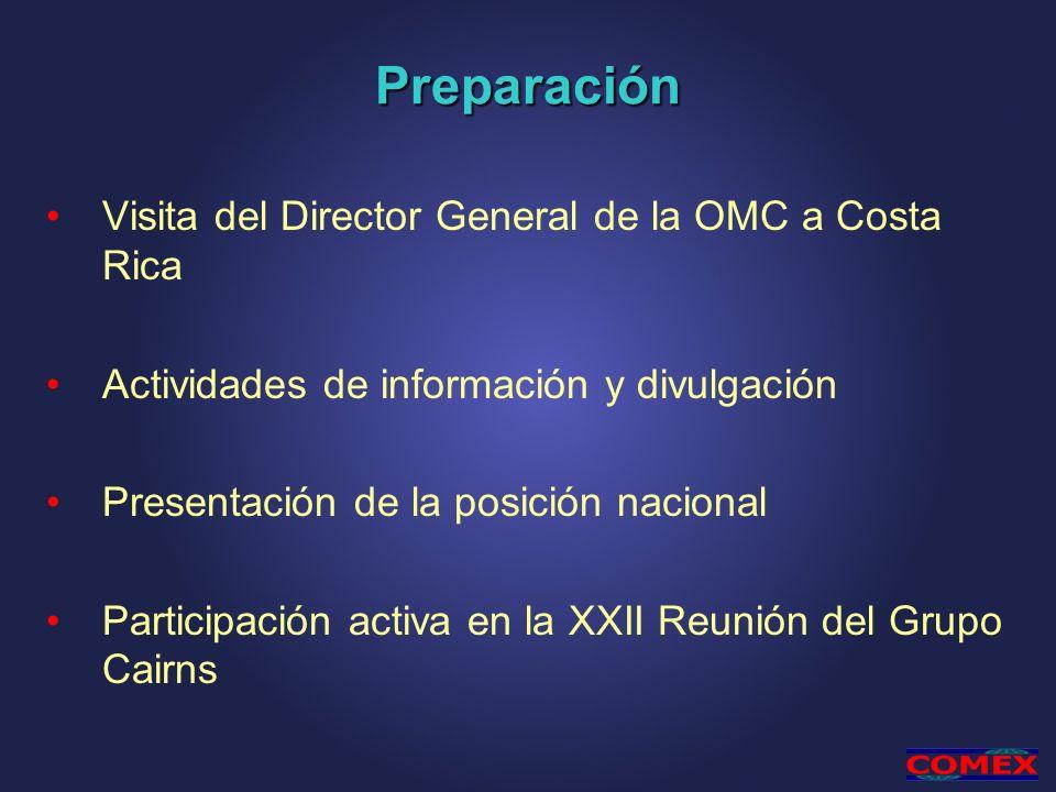 Preparación Visita del Director General de la OMC a Costa Rica