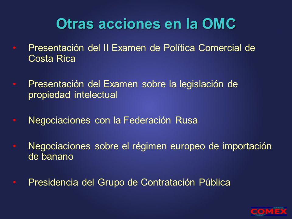 Otras acciones en la OMC