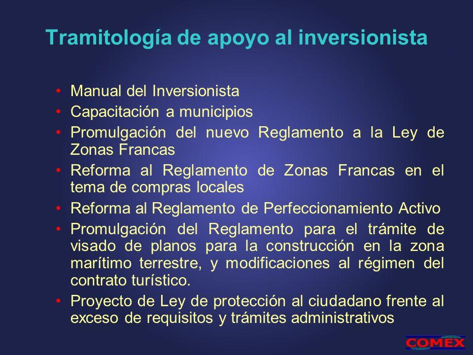 Tramitología de apoyo al inversionista