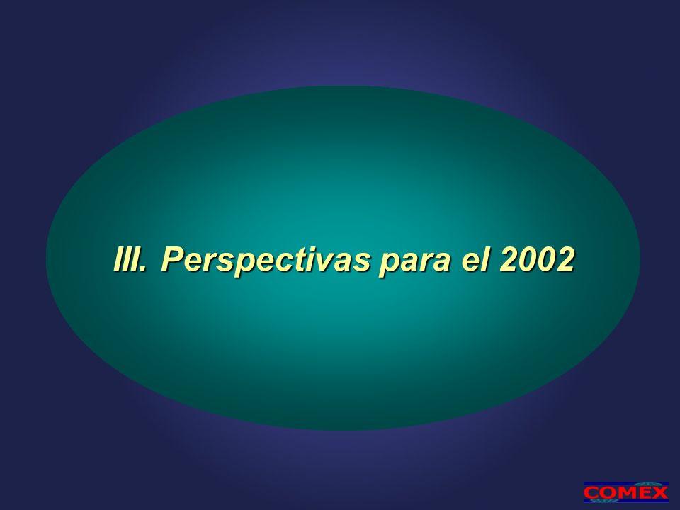 III. Perspectivas para el 2002