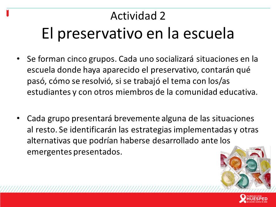 Actividad 2 El preservativo en la escuela