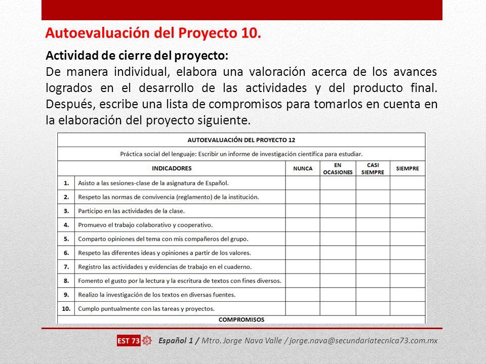Autoevaluación del Proyecto 10.