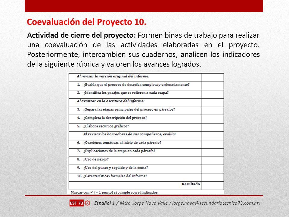 Coevaluación del Proyecto 10.