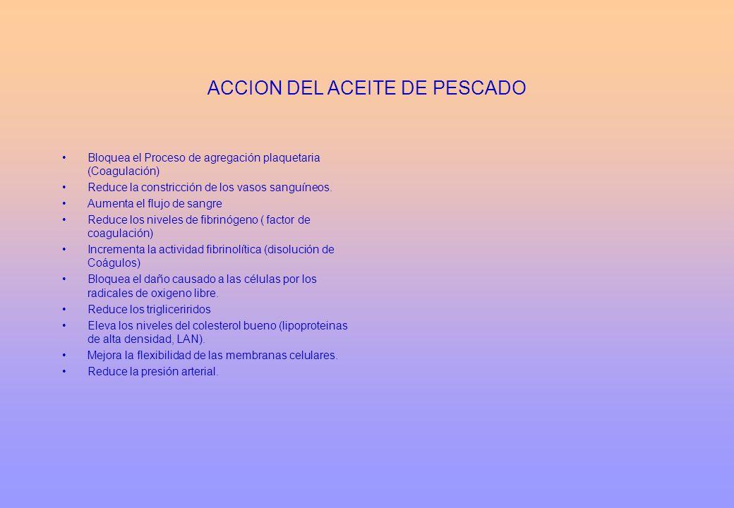 ACCION DEL ACEITE DE PESCADO