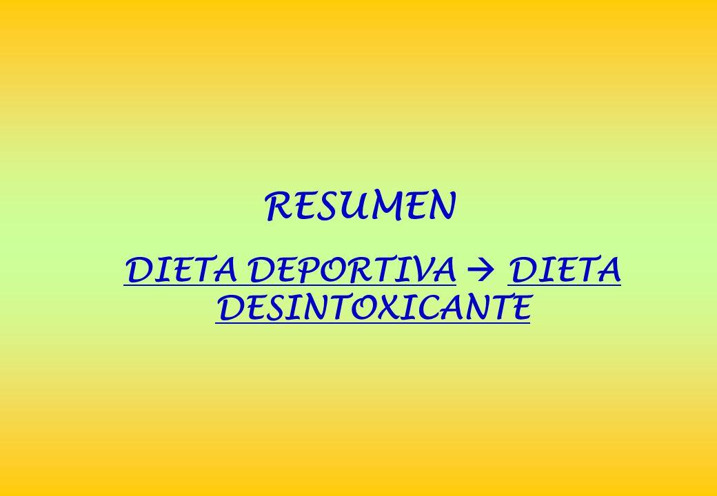 DIETA DEPORTIVA  DIETA DESINTOXICANTE