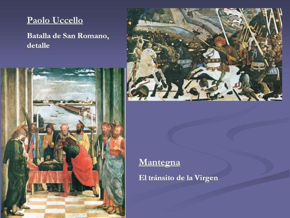 Paolo Uccello Mantegna Batalla de San Romano, detalle