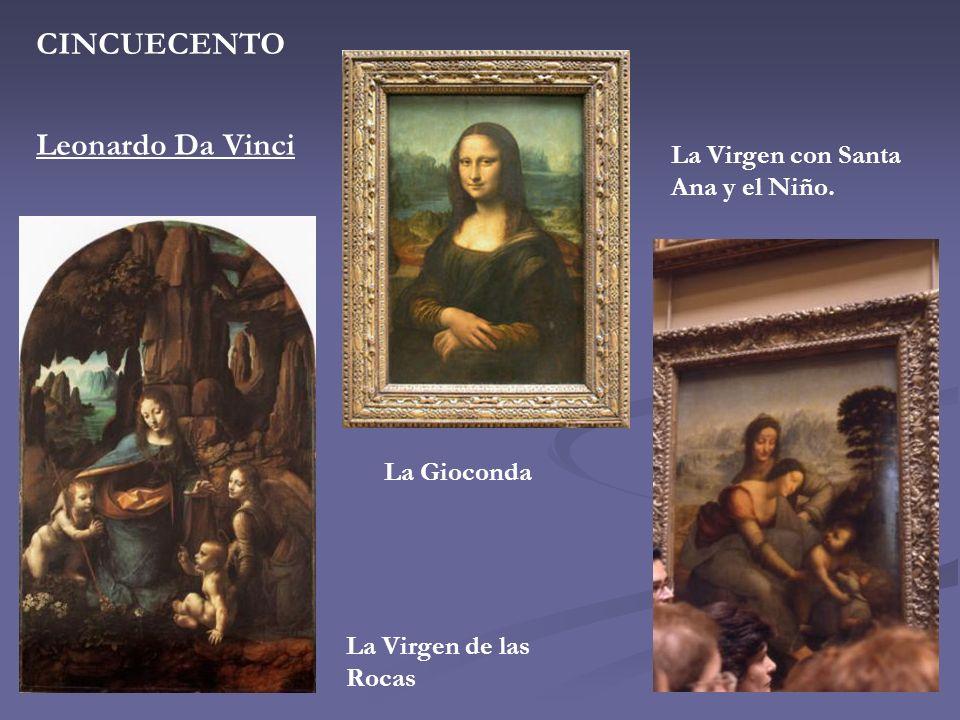 CINCUECENTO Leonardo Da Vinci La Virgen con Santa Ana y el Niño.