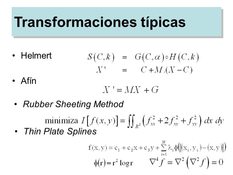 Transformaciones típicas