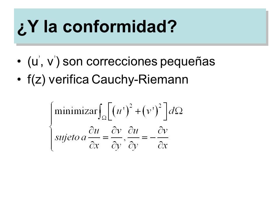 ¿Y la conformidad (u', v') son correcciones pequeñas