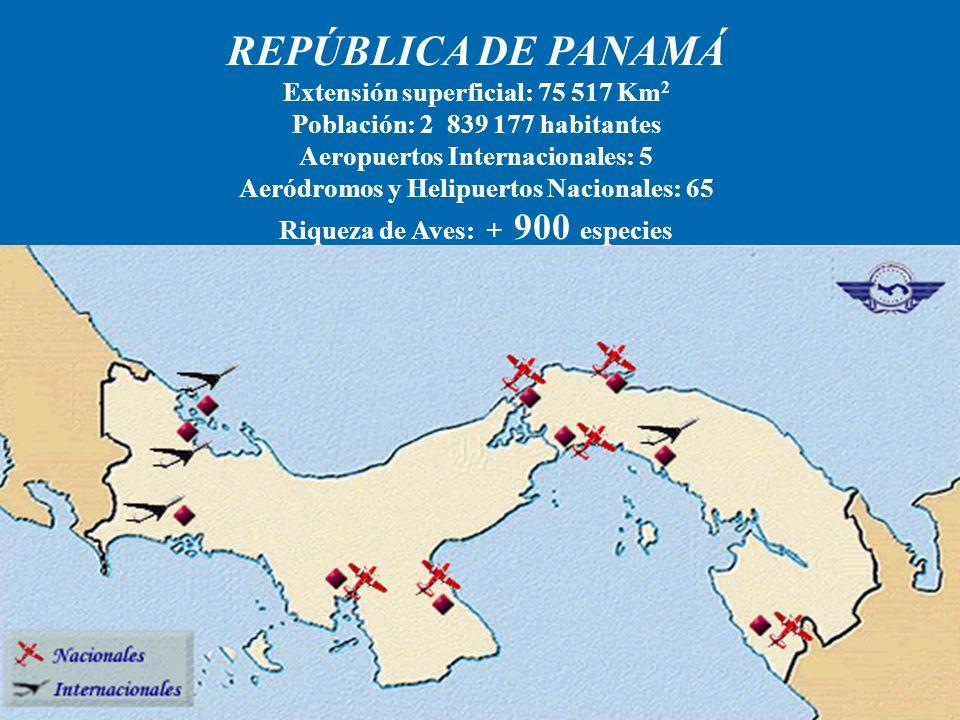 REPÚBLICA DE PANAMÁ Extensión superficial: 75 517 Km2