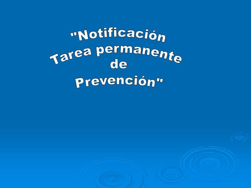 Notificación Tarea permanente de Prevención