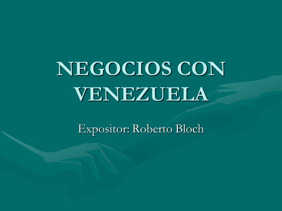 NEGOCIOS CON VENEZUELA